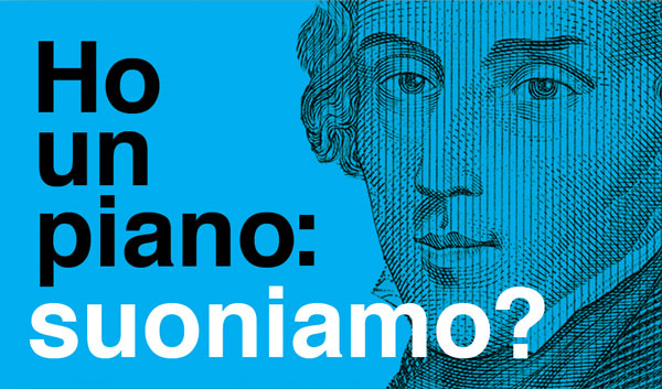 'Ho un piano: suoniamo?' – business card